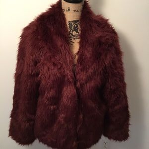 NWT Gorgeous Faux Fur Jacket by Rue 21